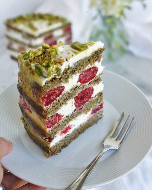 Low carb pistáciový dort